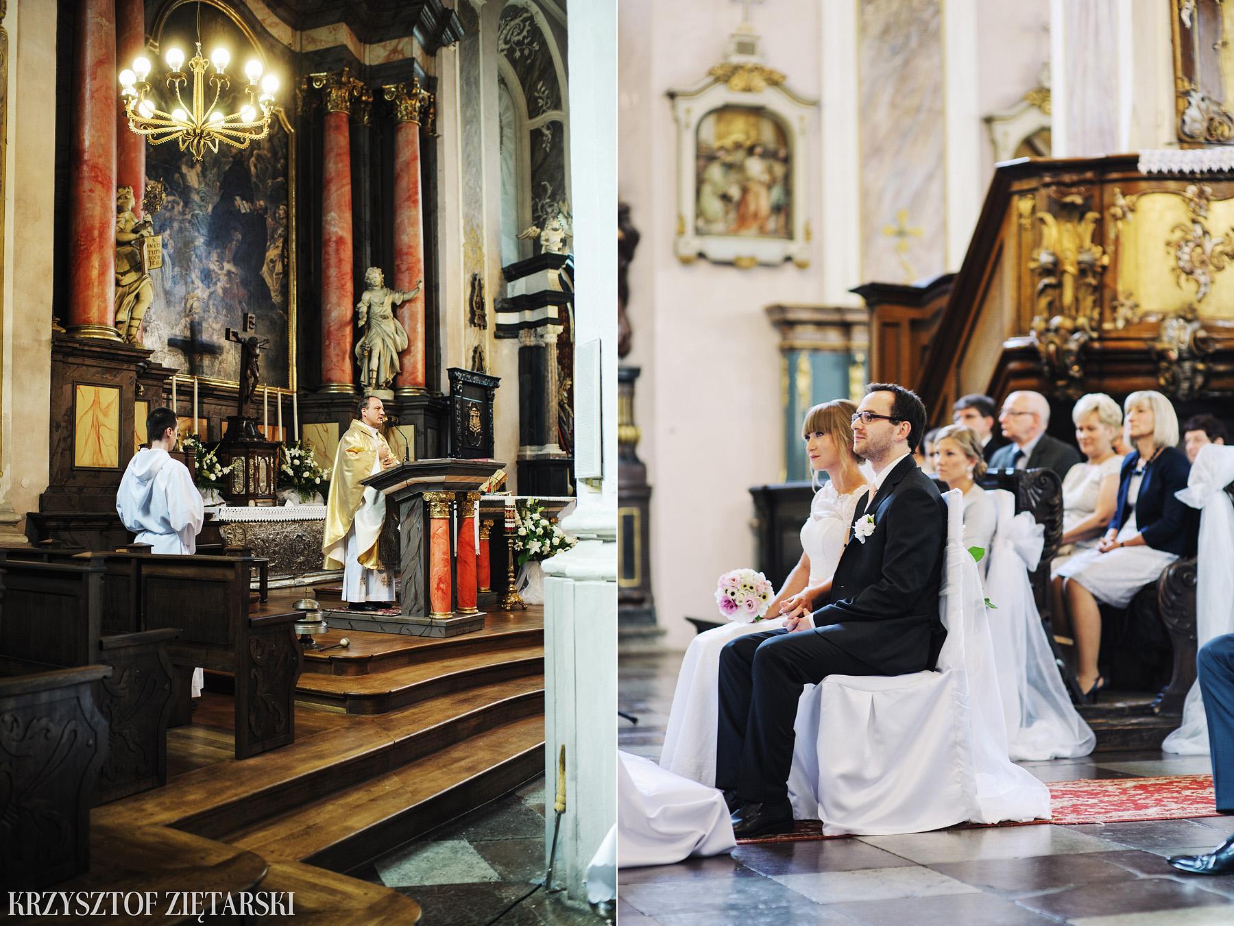 Justyna i Konrad - Fotografia ślubna Gdańsk, Kościół św.Ignacego Stare Szkoty, Restauracja Tabun Otomin - 6.