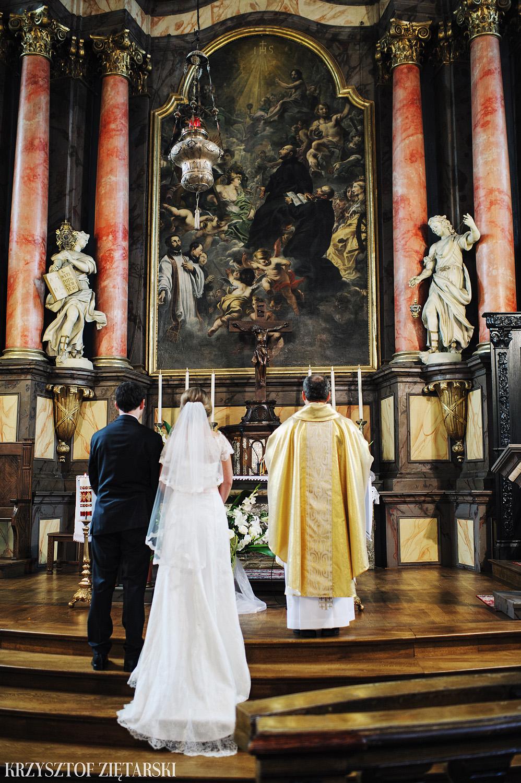 Justyna i Konrad - Fotografia ślubna Gdańsk, Kościół św.Ignacego Stare Szkoty, Restauracja Tabun Otomin - 7.