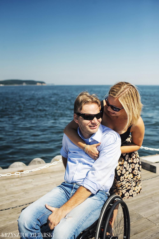 Ania i Mikkel - sesja fotograficzna na rocznicę ślubu w Sopocie, prezent na rocznicę ślubu - 1.