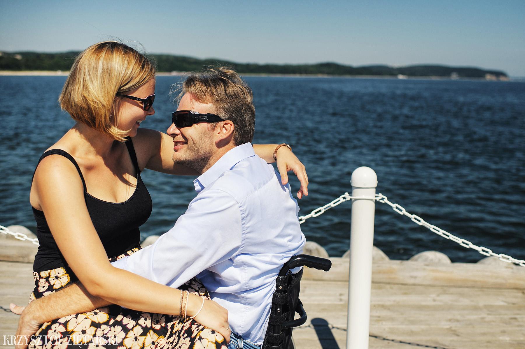Ania i Mikkel - sesja fotograficzna na rocznicę ślubu w Sopocie, prezent na rocznicę ślubu - 2.