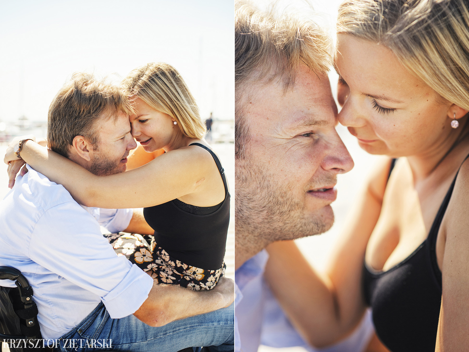 Ania i Mikkel - sesja fotograficzna na rocznicę ślubu w Sopocie, prezent na rocznicę ślubu - 3.