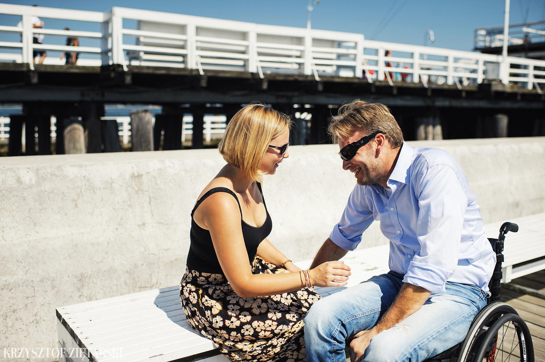 Ania i Mikkel - sesja fotograficzna na rocznicę ślubu w Sopocie, prezent na rocznicę ślubu - 4.