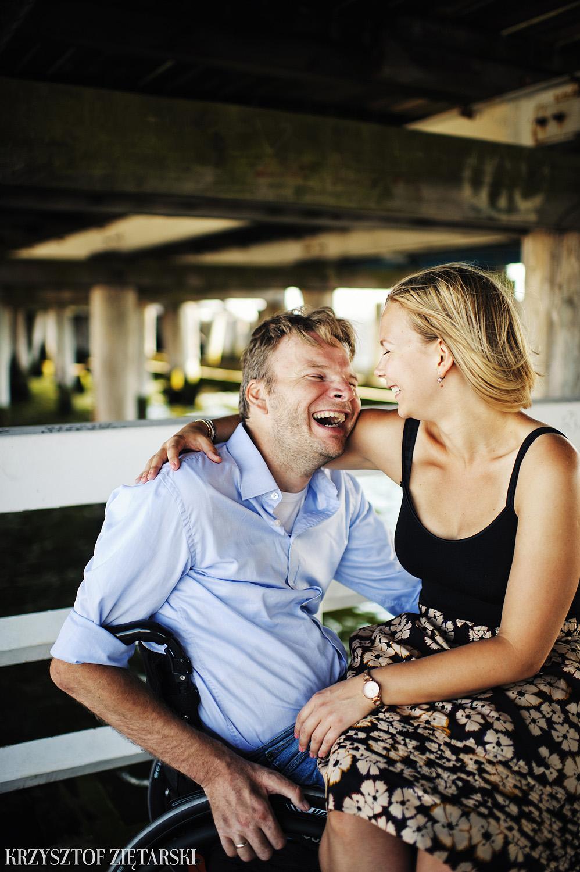 Ania i Mikkel - sesja fotograficzna na rocznicę ślubu w Sopocie, prezent na rocznicę ślubu - 8.