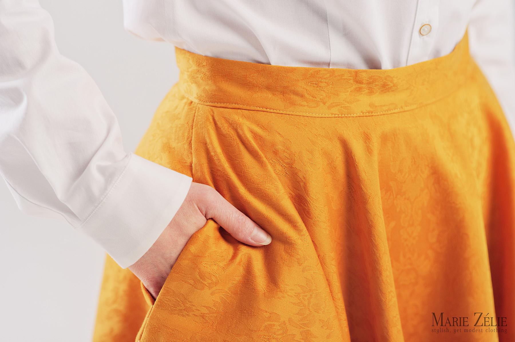 Spódnica z koła z kieszeniami - Marie Zélie